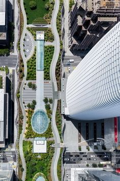Image 5 of 8 from gallery of Salesforce Transit Center / Pelli Clarke Pelli Architects. Photograph by Steelblue Contemporary Landscape, Urban Landscape, Parking Plan, Plaza Design, Landscape Architecture Design, Green Architecture, Modern Landscaping, Master Plan, Cool Landscapes