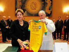 Portal Esporte São José do Sabugi: Presidente Dilma Rousseff visita o Papa Francisco