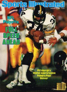 1985 Sports Illustrated Cover - NFL Pitsburgh Steelers Running Back Walter Abercrombie   **Instant Download** by DigiAds on Etsy