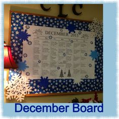 Blue & White on this year's December board.