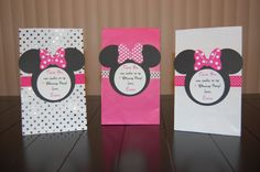 Personalized Minnie Mouse Favor