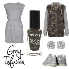 GREY INFUSION. For girls like casual and chic style! ♥ #baby #beautiful #beauty #bestoftheday #cool #cute #fashion #fashionista #girl #girls #inspiration #iphonesia #life #look #love #model #nail #nailart #nailpolish #nails #outfit #photooftheday #pretty #shoes #shopping #style #molome #green # happy #smile #friends #cute #grey #military #smile
