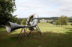 The Hear Heres Sound Sculpture, Sculptures, Poemas Haiku, Studio Weave, Can We Love, Metal Horns, Eco Architecture, Antony Gormley, Cat Sitting