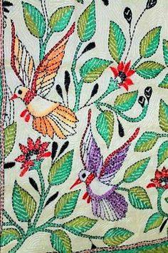 243 Best Kantha Embroidery Images Kantha Stitch Embroidery