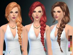 The Sims Resource: Hair 257 by Skysims • Sims 4 Downloads