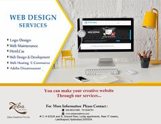 #ZebaCreations Pvt ltd, provides with the #quality #WebDesign #services in order to flourish you #business with new and attractive look to reach your targeted #audiences in the way you want. visit: http://www.zebacreations.com/
