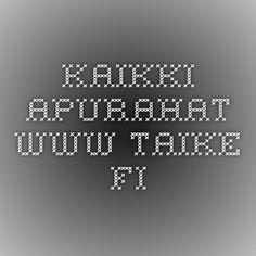 Kaikki apurahat - www.taike.fi Kohdeapurahat SYYSKUU Alueelliset työskentely- ja kohdeapurahat LOKAKUU Residenssit LOKAKUU Kirjastoapurahat MARRASKUU Matka-apurahat HELMIKUU Taiteilija-apurahat MAALISKUU