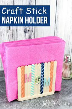 Craft Stick Napkin Holder