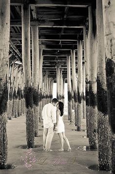 Beach engagement picture. When I get engaged, this is where mine have to be