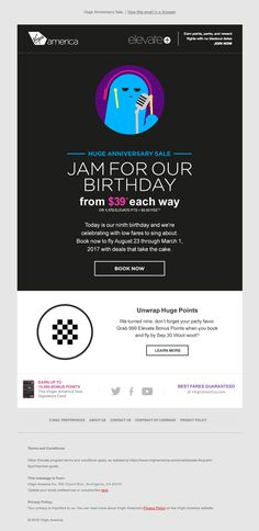 @virginamerica  sent this email with the subject line: Huge 3-Day Sale: $39 one way fares. - Read about this email and find more e-commerce emails at ReallyGoodEmails.com #ecommerce #gif #productlaunch
