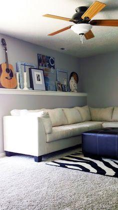 mantel shelf over sofa