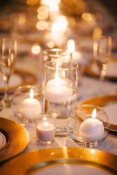 Simple and Elegant Candlelit Wedding