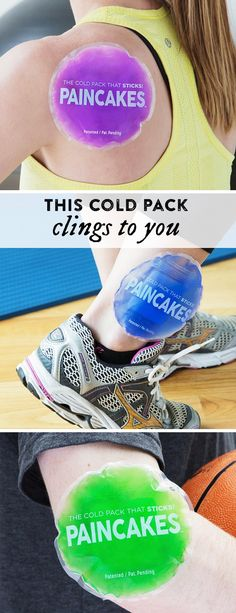 This cold pack is made to stay put, so you can move around. These adhesive cold therapy packs can be used and reused—up to 100+ times.