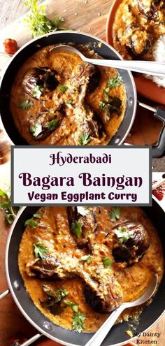 Bagara baingan is an authentic hyderabadi cuisine. This is a vegan eggplant curry. This is best served with dum biryani and rice preparations. This is also known as baingan salan and similar to mirch ka salan or any other salan recipes. Brinjal Recipes Indian, Indian Eggplant Recipes, Indian Food Recipes, Vegan Eggplant, Ethnic Recipes, Eggplant Curry Indian, Authentic Indian Recipes, South Indian Vegetarian Recipes, Healthy Cooking