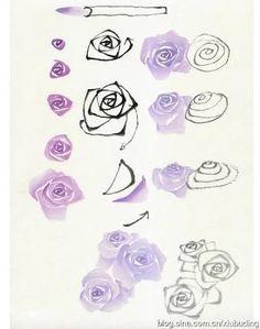 Bilderesultat for pinterest drawing flowers with brush markers