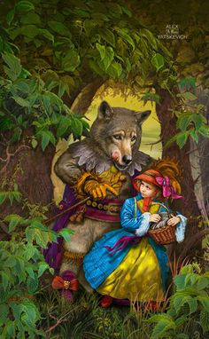 children's fairytale ~ Little red riding hood by yalex {Alexander Yatskevich} on deviantart