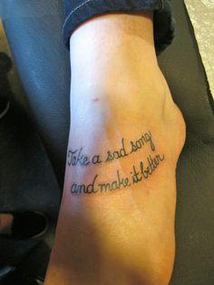 Fuck Yeah Word Tattoos: Photo