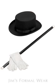 Top Hat, Formal Cane, and Tuxedo Gloves // Jim's Formal Wear Men Formal, Formal Wear, Tuxedo Accessories, 28th Birthday, Tuxedos, Groom And Groomsmen, Gloves, Prom, Google Search
