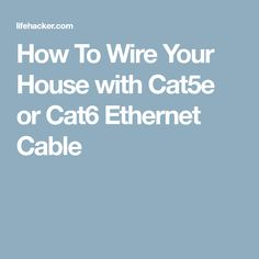 7 best ethernet house wiring images house wiring home network cable rh pinterest com