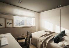 Apartament na osiedlu WIlno. Minimalistyczna aranżacja sypialni. www.bartekwlodarczyk.com
