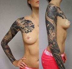 Koi Japanese Tattoo Sleeve #japanesetattoos