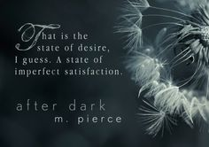 AFTER DARK by M. Pierce, reader made graphic by Michele.