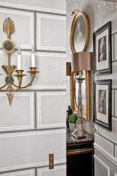 Habitually Chic® » Chic Reads: Jean-Louis Deniot Interiors Studio Printworks  Le Temple Des Grec wallpaper hallway foyer