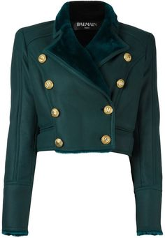 Balmain double breasted cropped jacket - $3,520.33