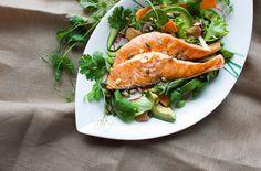 Salmon Salad with Wasabi Dressing   my blue&white kitchen