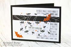 Stempel-Biene: Halloweenkarte mit Stampin' Up! Spooky Fun #halloween #matchthesketch #stempelbiene #stampinupspookyfun