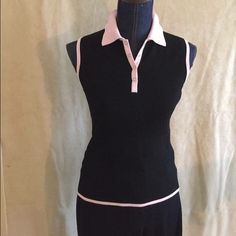 Cute Sleeveless sporty top Black and pink sleeveless Belldini sporty top ready for fun in the sun!!! Belldini Tops