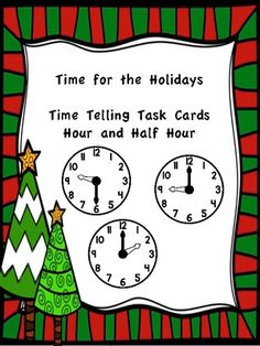 Time for the Holidays from Delightfully Differentiated on TeachersNotebook.com -  (17 pages)  - Students practice reading analog clocks and writing corresponding times with this set of 24 task cards.