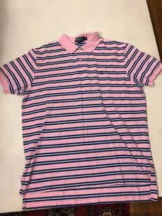 62842cf925a Mens pink striped polo shirt XL  fashion  clothing  shoes  accessories   mensclothing  shirts (ebay link)