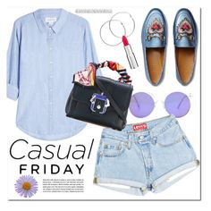 """""""Casual friday"""" by monica-dick ❤ liked on Polyvore featuring Velvet, Melissa Odabash, Gucci, Paula Cademartori and Givenchy"""