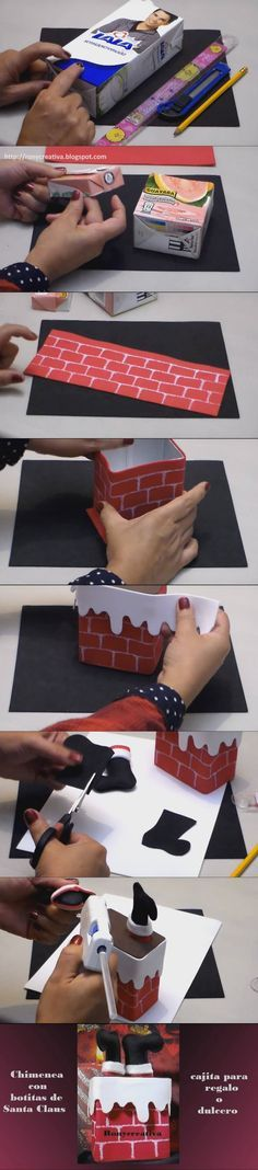 Caja para regalo navideña