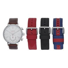 Chaps Men's Connected Hybrid Smart Watch & Interchangeable Band Set, multicolor