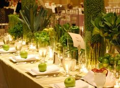 Centerpiece: Organic fruit and veggies
