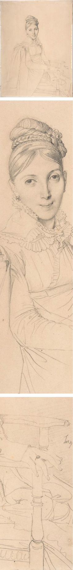 Portrait of a Seated Lady, Jean Auguste Dominique Ingres, pencil portrait drawing Thursday, August 7, 2014 Eye Candy for Today: Ingres pencil portrait