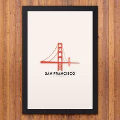 San Francisco Minimalist City Poster                                                                                                                                                     Plus