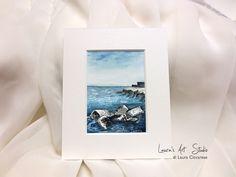 Collezione acquerelli Puglia Souvenir - Il porto di Bari - Miniatura – 9,9 cm x 6,4 cm