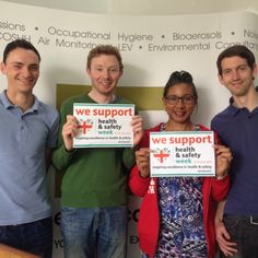 #HSWeek15 Here's a handful of our Environmental Services team supporting Health and Safety Week with a happy smiling #Helfie #HealthandSafety