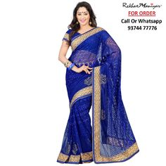 #Ready To Ship !!! Heavy Designer Net Saree !!! #Free Shipping, #COD Available Call Or Whatsapp Us on : 93744 77776