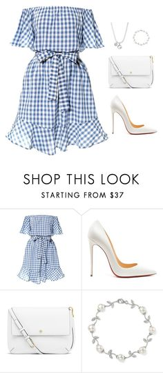 """""""Untitled #735"""" by moazett ❤ liked on Polyvore featuring Christian Louboutin, Tory Burch, Bloomingdale's and Gucci"""