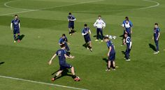 General view during the Italy training session at the club's training ground at Coverciano on May 20, 2016 in Florence, Italy.