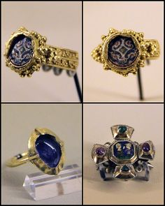 Rings and brooch, France 12-13cent. Musee National du Moyen Age unverified source