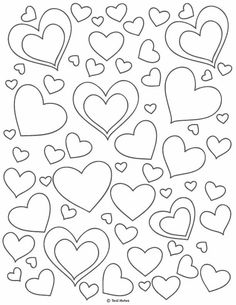 Heart Template: Free Printable Heart Cut Out Stencils And Coloring Page, heart cut out Coloring Pages For Grown Ups, Heart Coloring Pages, Printable Adult Coloring Pages, Disney Coloring Pages, Printable Heart Template, Printable Flower, Printable Paper, Valentines Day Coloring Page, Free Stencils