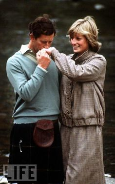 Charles and Di, Scotland honeymoon, 1981.   Do you think they were ever really, truly in love?  I don't think so when it comes to Charles..but Diana seems she was in love With him..