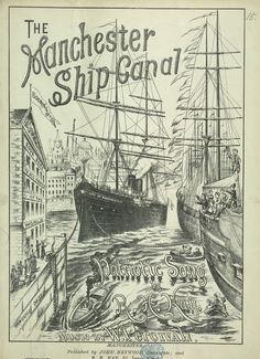 """adventures-of-the-blackgang: """" - Manchester Ship Canal Patriotic Song - (sheet music) """" History Manchester, Liverpool History, Manchester Uk, Song Sheet, Sheet Music, Midland Hotel, Merchant Navy, Water Pictures, Northern England"""