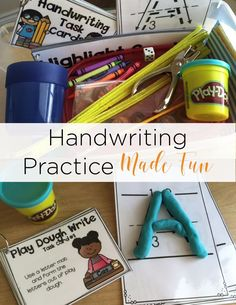 Handwriting can be tricky for little learners and it's always tough to find time to squeeze it in! Use these handwriting task cards to get little hands working on their handwriting skills daily! Plus, they are so fun for students!
