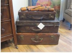 perfectly proportioned vintage suitcases